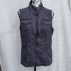 A.n.dTM a.new.day Gray Zippered UtilityVest